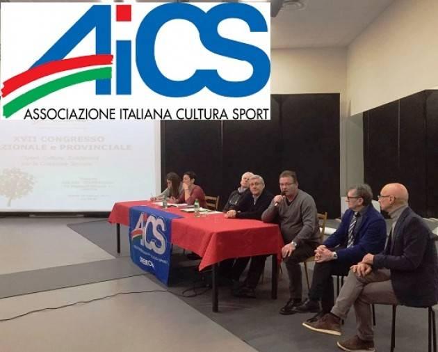 AICS a Congresso  Lo Sport sociale una risorsa per il paese  Bandera passa a  Vallara il testimone
