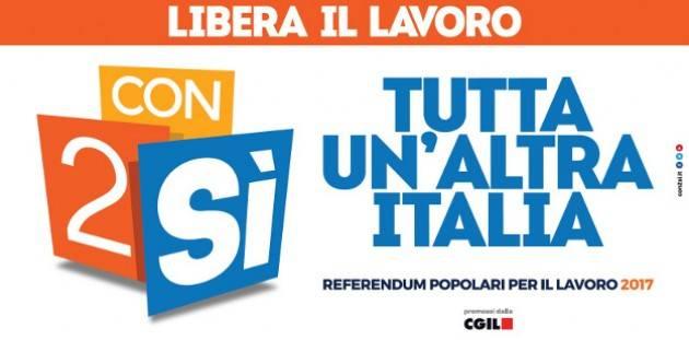 Cgil #Con2Sì Referendum lavoro, aperta la campagna elettorale a Palermo