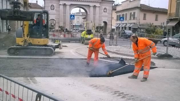 Acquedotto di Porta Ombriano a Crema, finiti i lavori di riparazione si procede alla riasfaltatura