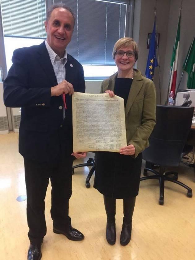 Il Presidente del Pd Italiano negli Stati Uniti Pasquale Nestico ha incontrato Sara Valmaggi (PD).