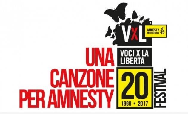 Premio Amnesty Italia Ecco le 10 canzoni sui diritti umani in gara nel 2017