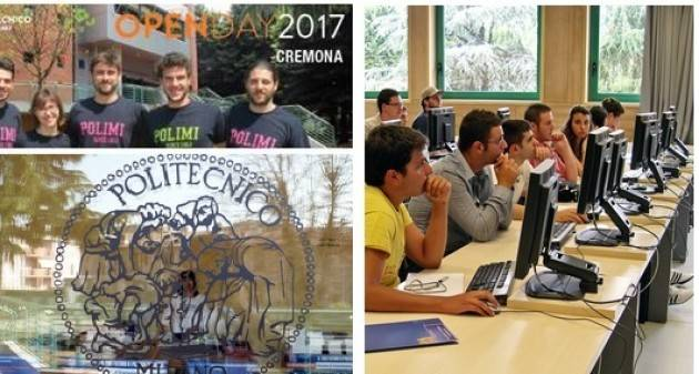Open Day - Martedì 7 Marzo 2017 Al Campus di Cremona del Politecnico