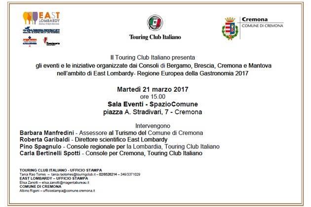 Cremona, il Touring Club presenta le iniziative dei consoli di East Lombardy