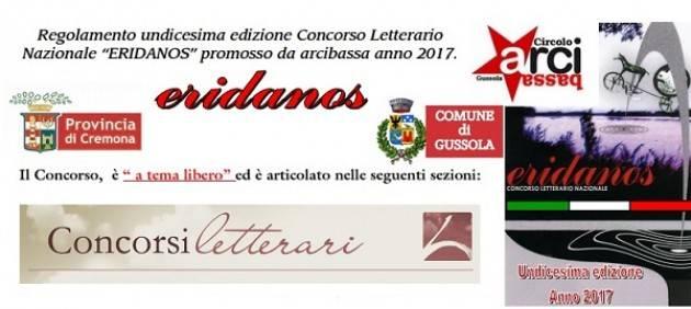Gussola Undicesima edizione Concorso Letterario Nazionale 'ERIDANOS' promosso da arcibassa anno 2017