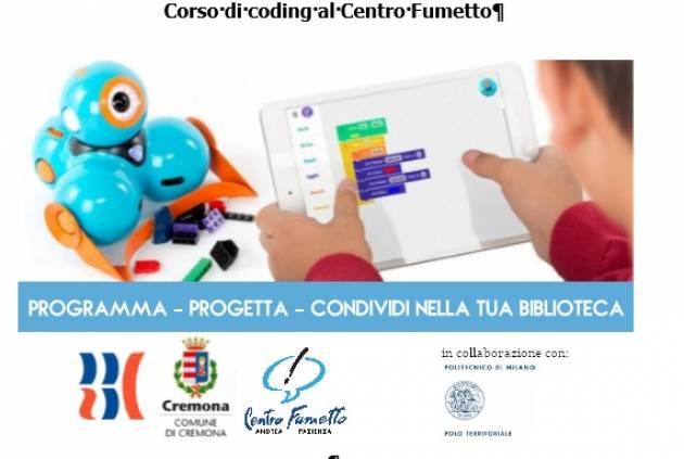 Corso di Coding al Centro Fumetto 'Andrea Pazienza' Cremona