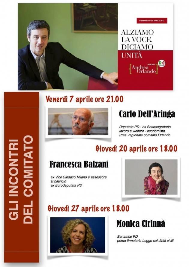 Congresso PD Cremona  Verso le primarie del 30 aprile. Le iniziative  del Comitato 'Orlando'