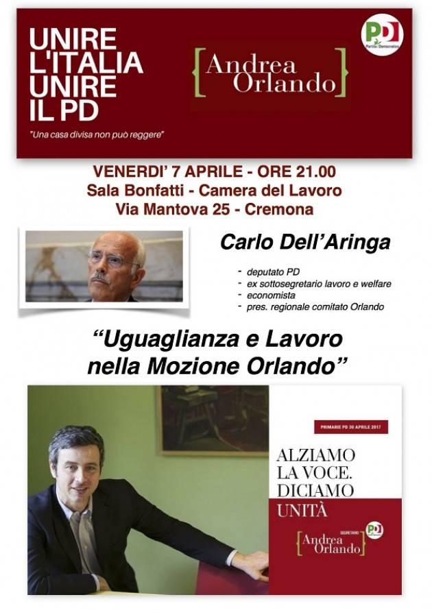 Congresso Pd Cremona Incontro con Carlo Dell'Aringa del Comitato Orlando