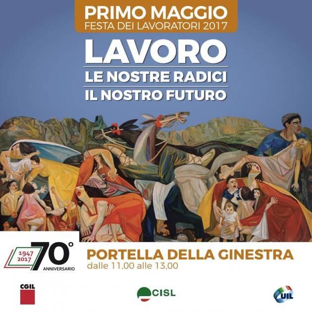 Festa del lavoro Primo Maggio, i sindacati a Portella della Ginestra