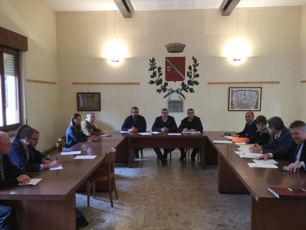 Lavori sul Ponte  'Verdi' Summit a San Daniele Po