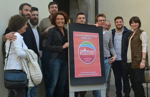 Crema Conclusa la raccolta firme per  ' La Sinistra con Bonaldi Sindaca'