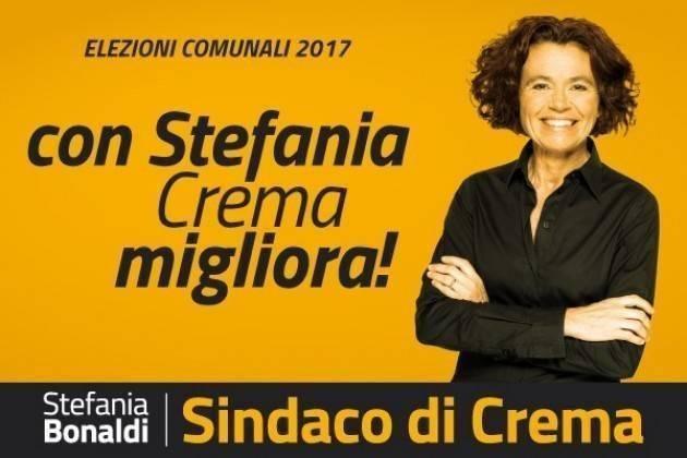 Crema Stefania Bonaldi al mercato ed in centro città