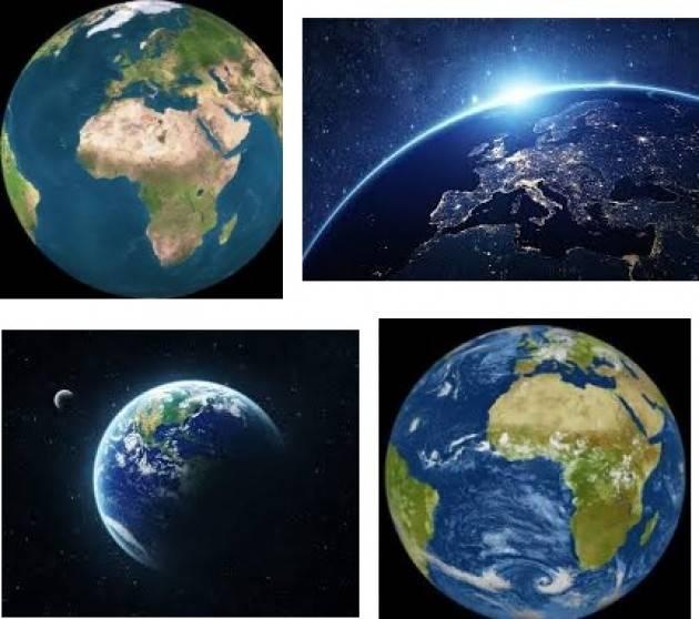 Il pianeta Terra e i giocatori alla roulette russa.Benito Fiori ( Cremona )