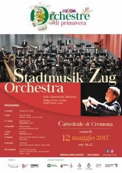 Oggi venerdì 12 ore 18.45 LA STADTMUSIK ZUG ORCHESTRA in Cattedrale a Cremona