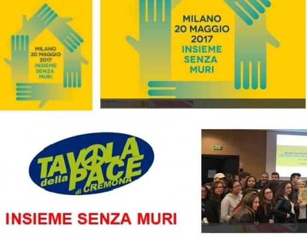 Tutti a MILANO, sabato 20 maggio INSIEME SENZA MURI Invito della Tavola della Pace Cremona