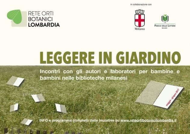 La Rete degli Orti botanici invita a 'Leggere in giardino' Evento 28 giugno presso la biblioteca Chiesa Rossa.
