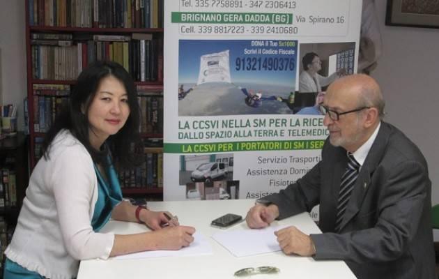 Cremona Firmato il Protocollo fra Gualtiero Nicolini (CCSVI ) e la immunologa giapponese YasuKo  Yashinori