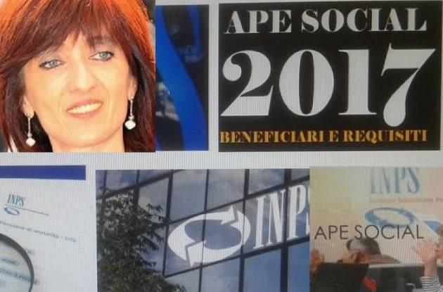 Pensioni APE SOCIALE E QUOTA 41. Decreti al via  On.Cinzia Fontana (Pd) Le domande entro 15 luglio