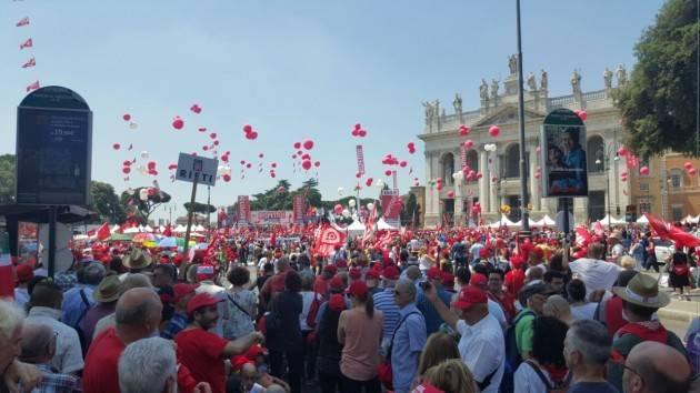 La telefonata Voucher e Diritti  Manifestazione a Roma  Marco Pedretti (Cgil Cr) : è stata una bella giornata