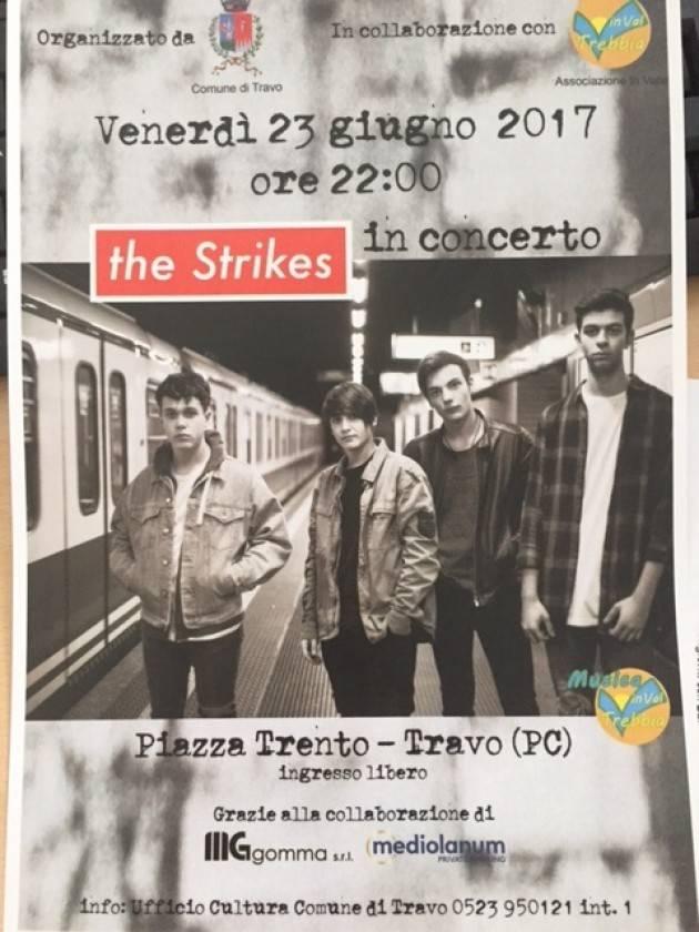 Piacenza Travo, Joe Croci e gli Strikes in concerto.  Venerdì 23 Giugno 2017 alle 22 in Piazza Trento
