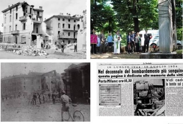Cremona Commemorazione delle vittime del bombardamento del 10 luglio 1944