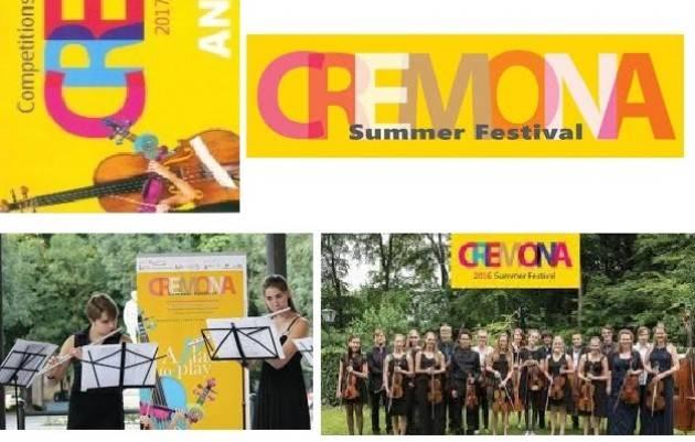 Summer Festival 2017  Evento di Venerdì 18  Agosto a Cremona Palazzo Trecchi