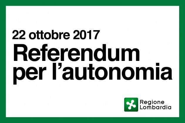 Referendum Lombardo 22 ottobre. PD : SI al REGIONALISMO DIFFERENZIATO  NO alla SECESSIONE