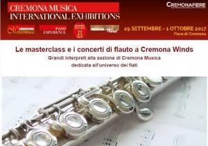 Le masterclass e i concerti di flauto a Cremona Winds dal 29 settembre al 1 ottobre 2017
