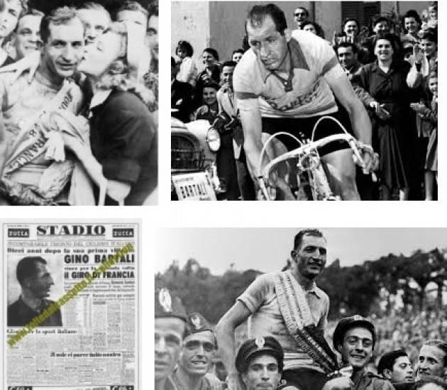 (Video) AccaddeOggi  #15luglio 1948 Bartali vince la tappa Cannes –Briançon e si avvia alla conquista del Tour de France