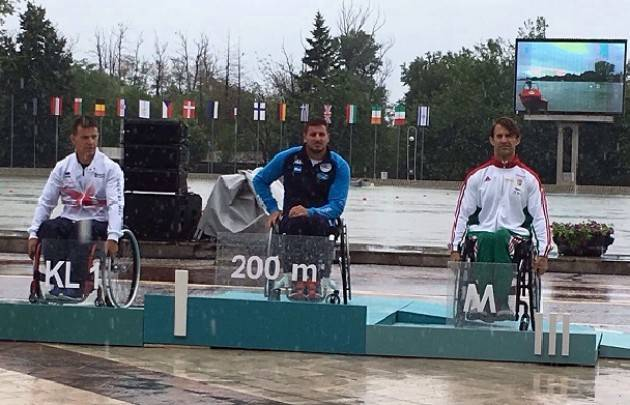 Canottieri Bissolati Cremona Esteban Farias vince campionati europei di paracanoa in Bulgaria