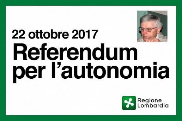 Referendum Lombardo su Autonomia. Ma che significa? Io voto NO  Di Giuseppe Azzoni (Cremona)