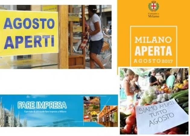 COMMERCIO. 'MILANO APERTA D'AGOSTO', PIÙ VENTI PER CENTO DI ADESIONI