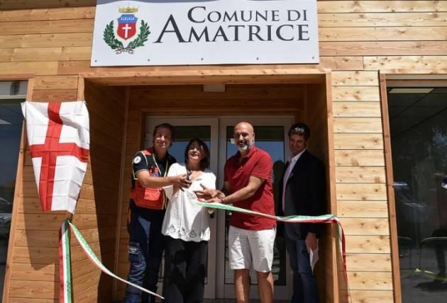 Milano per AMATRICE  Grazie ai fondi dei milanesi inaugurato il comune