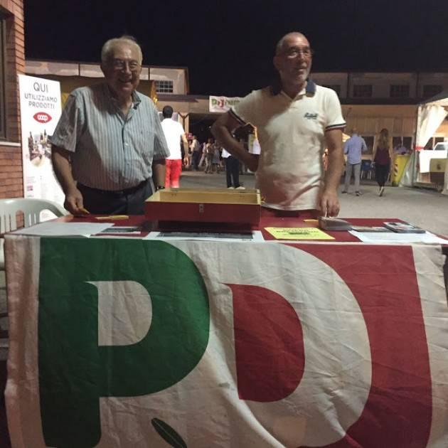 Gianluca Galimberti  si ricandiderà come Sindaco ed alla Festa dell'Unità chiede un applauso per il PD