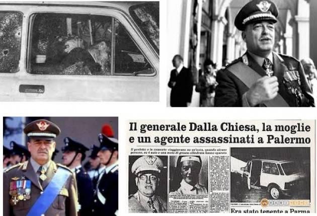 AccaddeOggi  3  settembre 1982 – Muore a Palermo, dopo agguato mafioso,  il generale Carlo Alberto Dalla Chiesa