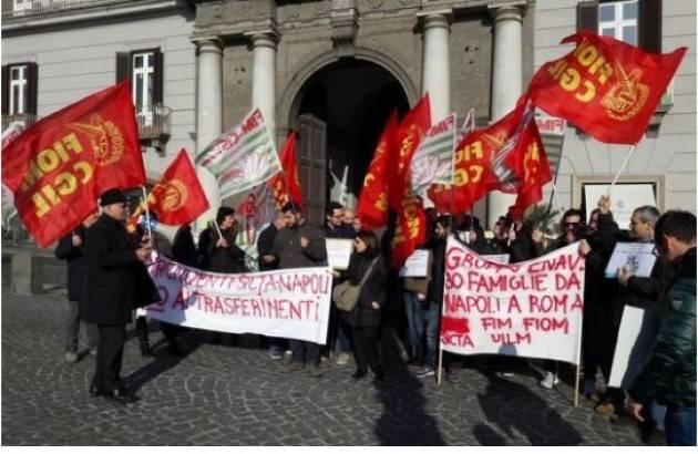 Fiom-Cgil La protesta Sicta: lavoratori in piazza contro i trasferimenti