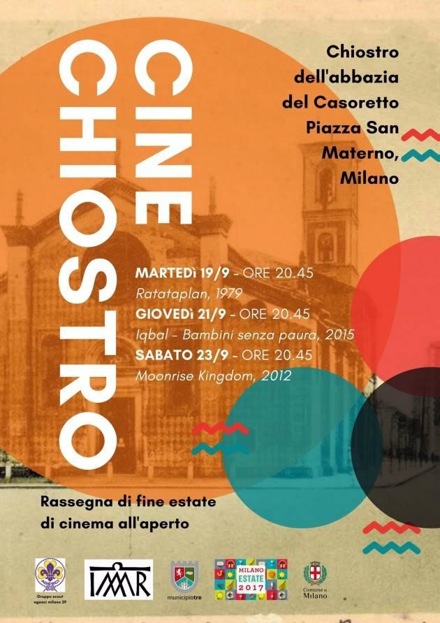 Milano CINECHIOSTRO: TRE FILM AL CASORETTO il 19, 21 e 23 settembre