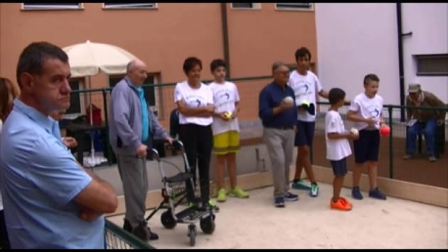 (Video) Inaugurato un campo di bocce alla Fondazione Germani di Cingia dé Botti