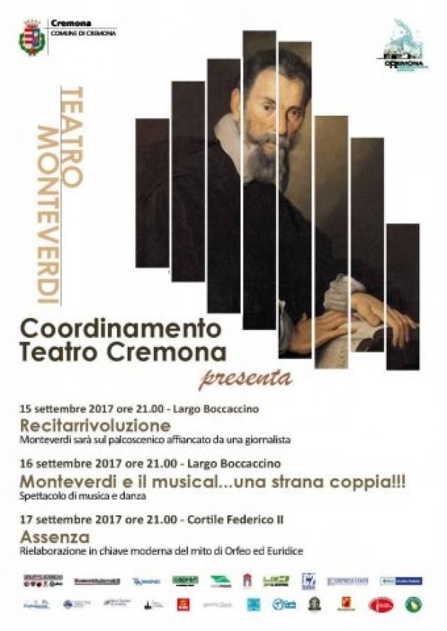 Cremona  Musica in piazza, danza lungo i corsi e omaggio a Monteverdi