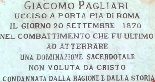 Cremona il 147° anniversario della presa di Porta Pia rievocato all'insegna dei valori laici della vita pubblica