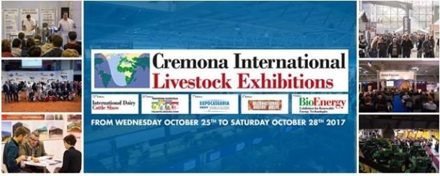 Fiere Zootecniche Internazionali di Cremona dal 25 al 28 ottobre 2017 : organizzazione a pieno regime