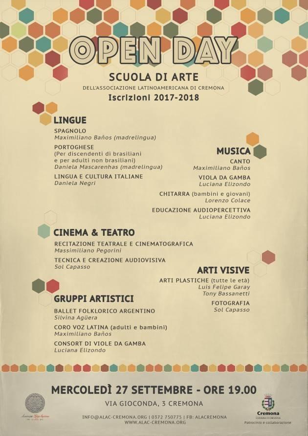 Open Day | Scuola di Lingue e Arti dell'Associazione Latino Americana di Cremona