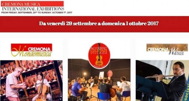 Cremona Musica  2017 da  Venerdì 29 settembre  a domenica  1 ottobre alla Fiera di Cremona