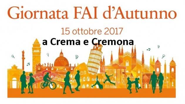A Crema e Cremona un ricco programma per la giornata del FAI d'Autunno del 15 ottobre 2017