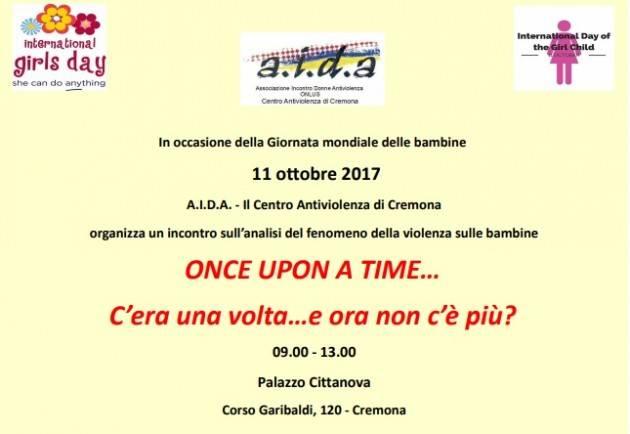 AIDA Cremona Mercoledì 11 ottobre 2017 Giornata della violenza sulle bambine