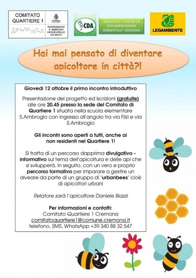 Cremona Quartiere 1 hai mai pensato di diventare apicoltore in città?