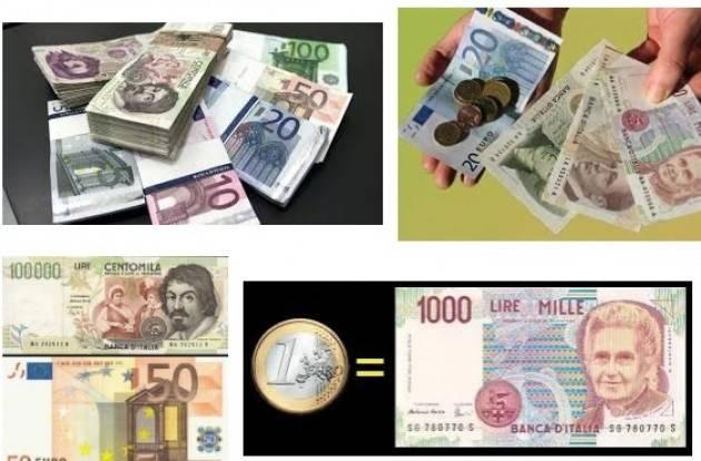 ADUC Euro più lira. Una bufala