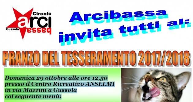 Arci Bassa Gussola  il 27 e 29 ottobre due importanti iniziative