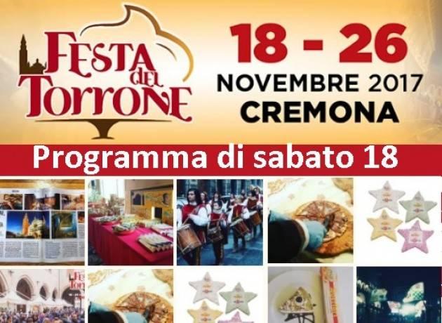 Festa del Torrone 2017 a Cremona il programma di sabato 18 novembre
