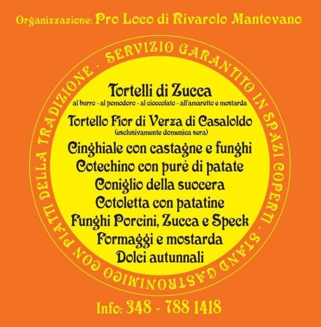 Rivarolo Mantovano, Sabato 28 e domenica 29 ottobre la Sagra del Tortello di Zucca Mantovano