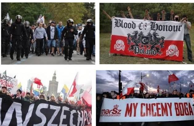Varsavia: in 60 mila fascisti, antisemiti, razzisti e xenofobi da tutta Europa contro i 'negri' e gli ebrei